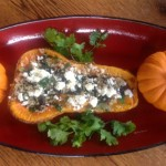 healthy stuffed butternut squash