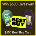 Win a $500 Best Buy Gift Card