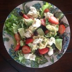 Healthy Goat Cheese, Cranberries, Almonds, avocado Salad