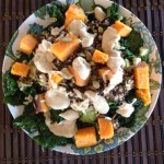 Kale, Sweet Potato, Quinoa, Tahini Salad vegan and gluten -free