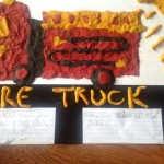 Play Dough Fire Truck Painting For Kids