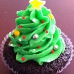 Healthy Christmas Tree Cupca