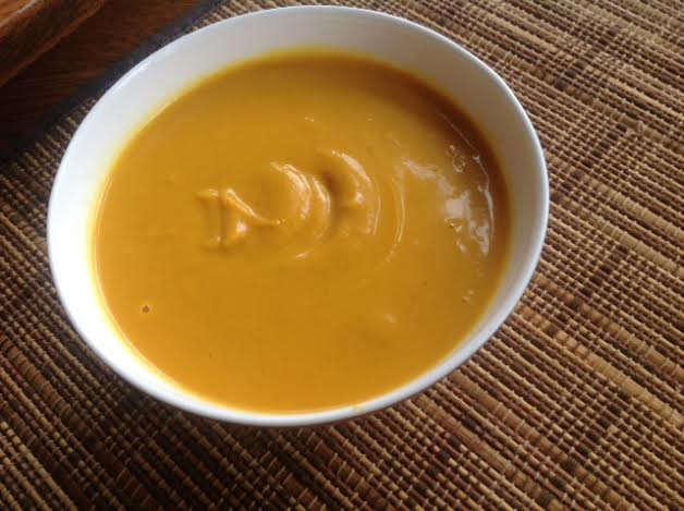 Curried Sweet Potato Soup, Healthy, Creamy and Vegan