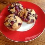 Healthy Gluten-Free Blueberry Cranberry Muffins