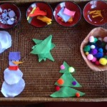 Winter and Christmas Play Tray