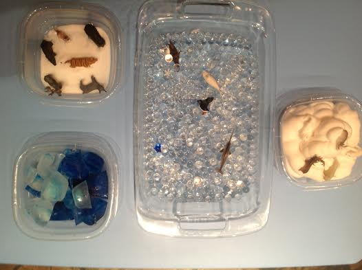 Arctic Sensory Tub 7 More Sensory Ice Play Ideas