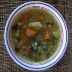 vegan Carrots, Parsnips, Barley, Miso Soup