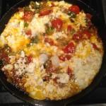 Shakshuka: Eggs with Vegetables and Feta Cheese