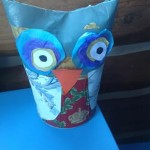 Craft: Owl, Made Out of Oatmeal Box
