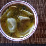 Vegetable Healthy Soup With Ravioli,
