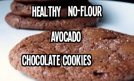 Gluten-free and vegan Avocado Chocolate Cookies