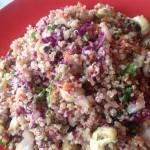 Asia Quinoa Salad, vegan and gluten-free