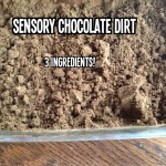 Sensory Chocolate Sand for valentine's day for toddlers