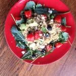 Baby Kale, Almonds, Quinoa Iron-Rich Salad, vegan and gluten-free