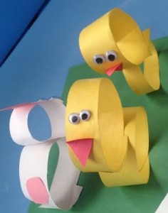 Easy Spring Craft For Kids Easter With Strips Of Construction Paper