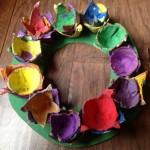 Egg Carton Wreath for kids