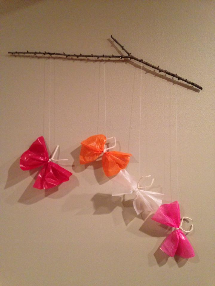 Natural Butterfly Mobile Craft Healthy Mama Info