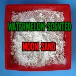 Watermelon-Scented Moon Sand for sensory play for toddlers