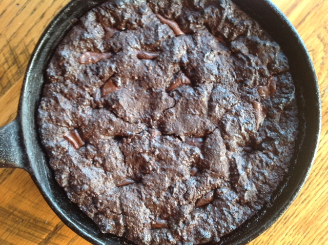 Grain-Free Chocolate Skillet Cookie