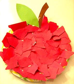 Поделка из бумаги в садик яблоко 83
