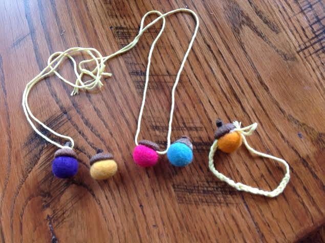 Felted acorn necklace healthy mama info for Acorn necklace craft