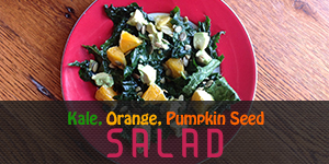 Kale Orange Pumpkin Seed Salad