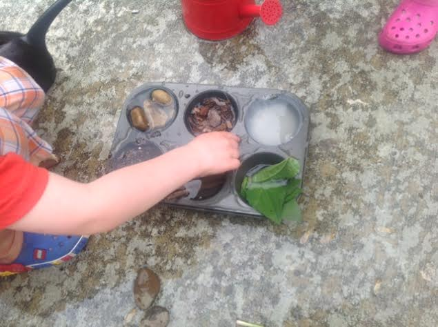 Science for Kids- Sink or Float in Nature preschool experiment