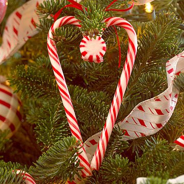 41 handmade ornament patterns for kids and adults for Candy cane crafts for adults