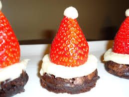 santa hats cookies