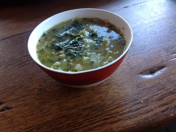 Green Soup with Kale, Leeks and Turnips