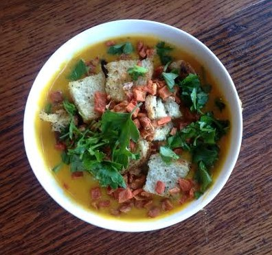 Roasted Curried Butternut Squash Soup