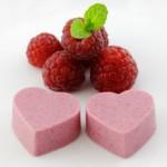 Raspberry Heart Jello