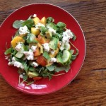 Peaches and Goat Cheese Salad