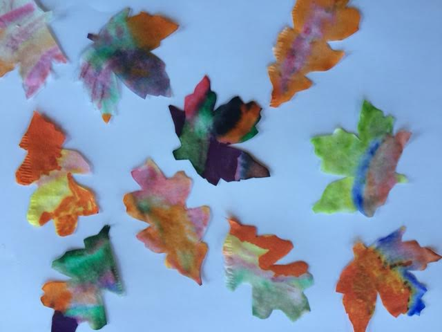 Coffee Filter Autumn Leaves