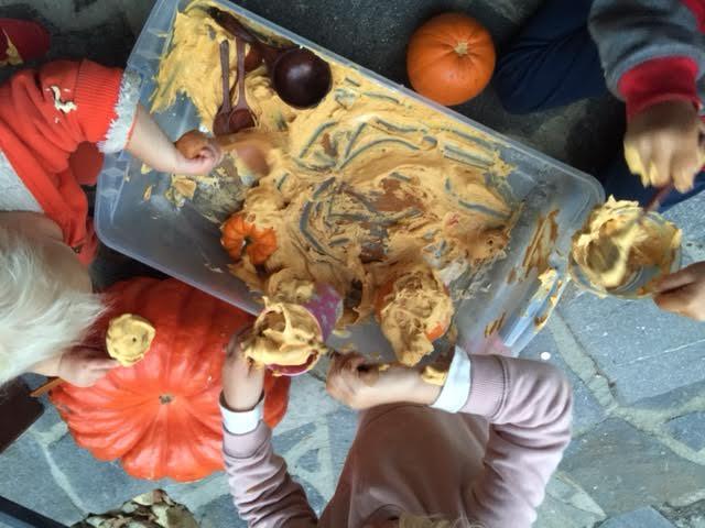Pumpkin Pie Sensory Foam for kids