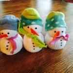 No-Sew Snowman from Socks
