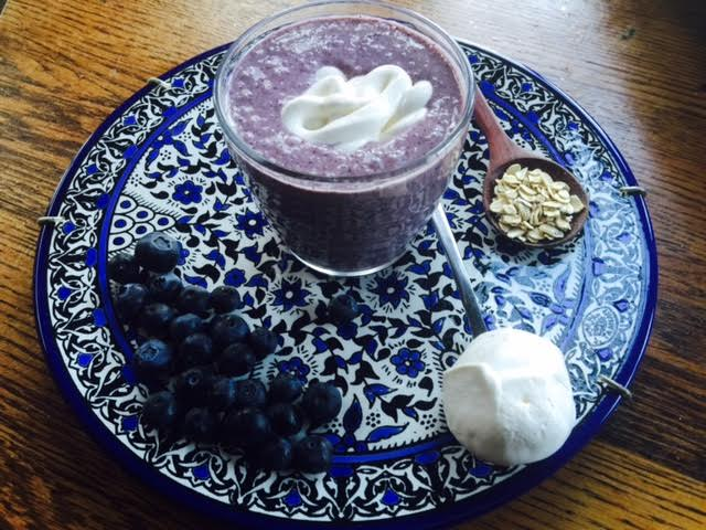 Blueberry Cupcake Smoothie