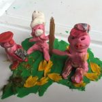 Three Little Pigs with Modeling Clay