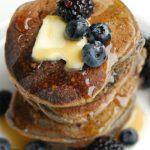 Blackberry Kefir Pancakes