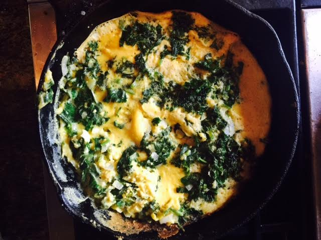 Quick Green Omelet