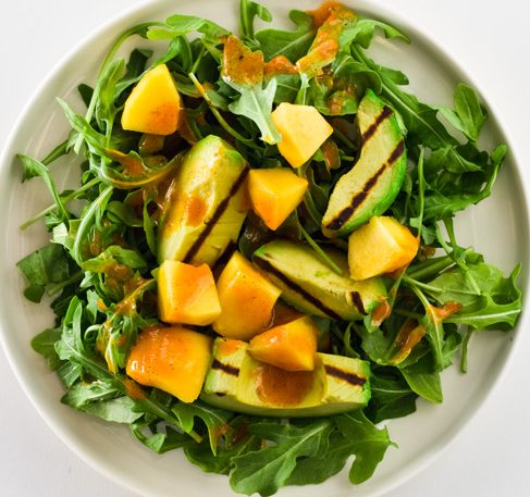 Mango and Grilled Avocado Salad