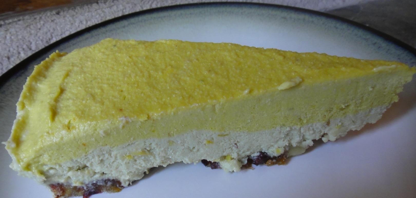 Raw Dairy Free Mango Cheesecake