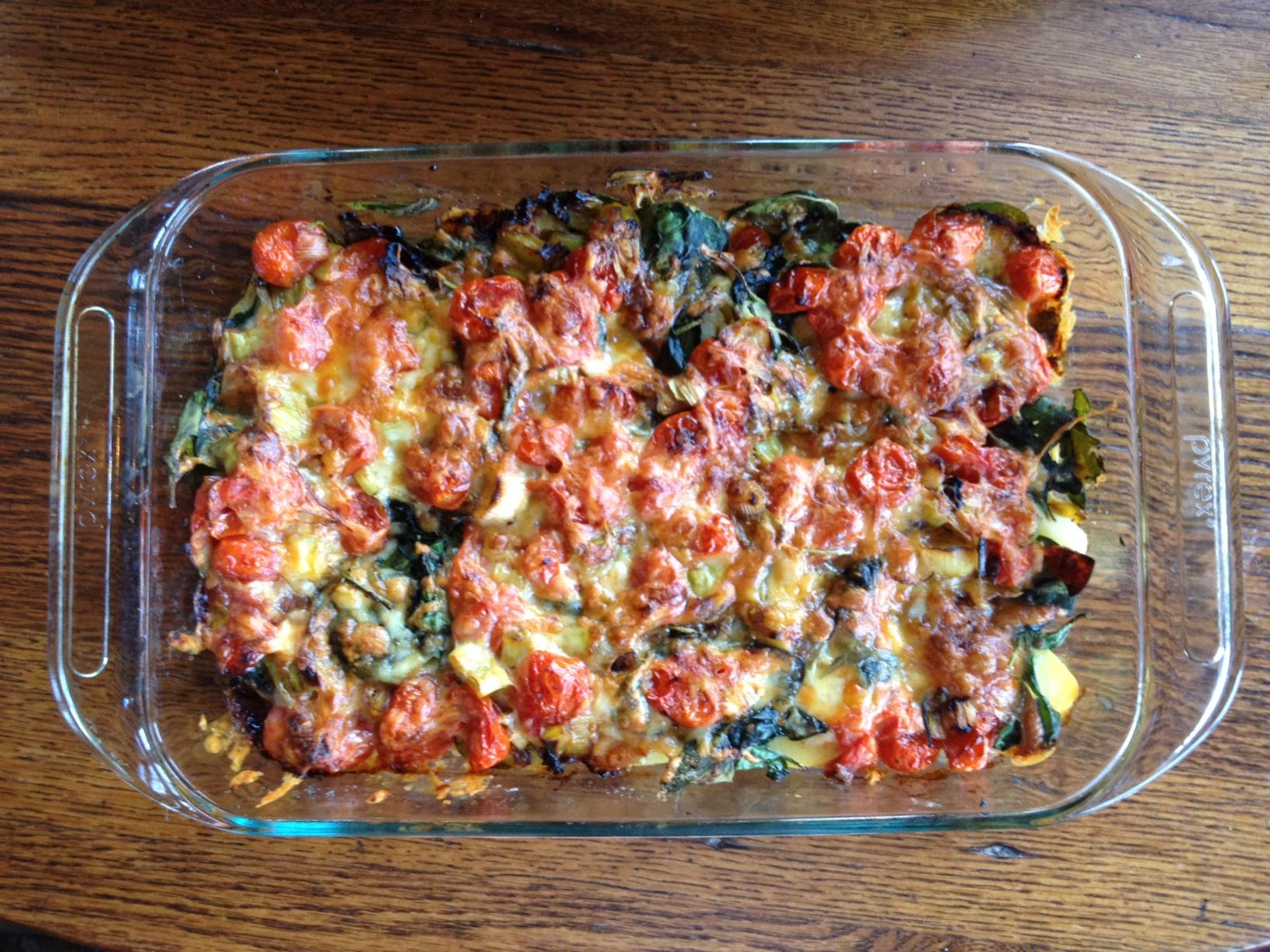 Potato Tomato Spinach Casserole Healthy Mama Info