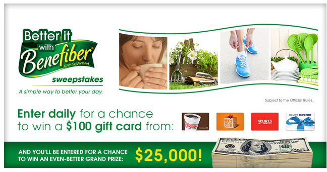 Gift Card + Benefiber Product Giveaway