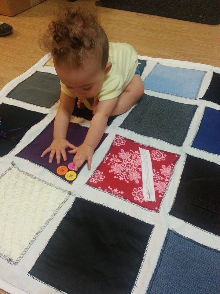 Diy Montessori Fabric Sensory Play Mat For A Baby