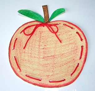 Apple Art Crafts For Toddlers