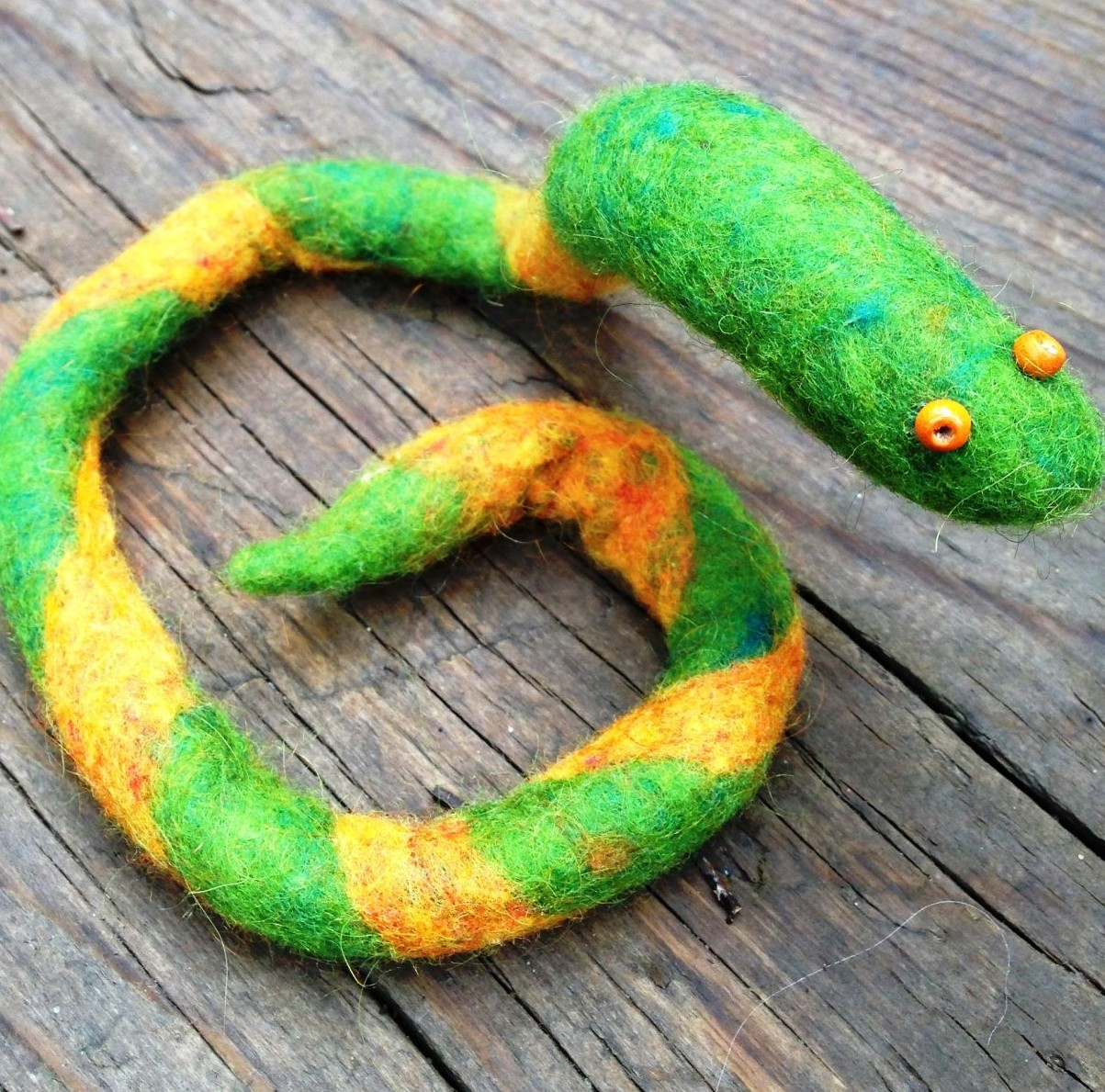 Felted Snake To Make With Kids  Healthy Mama Info-8430