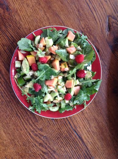 Salad With Papaya Raspberries And Kiwi Healthy Mama Info