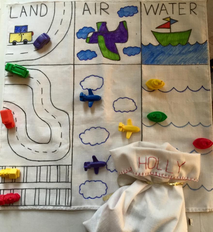 DIY Transportation Categories Montessori Playmat