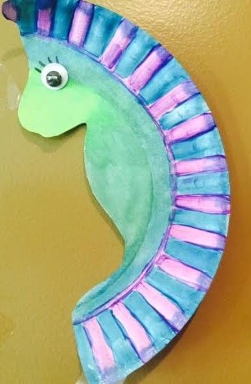 Paper Plate Seahorse Craft Healthy Mama Info